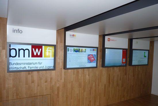 Infoscreens Beratungszone